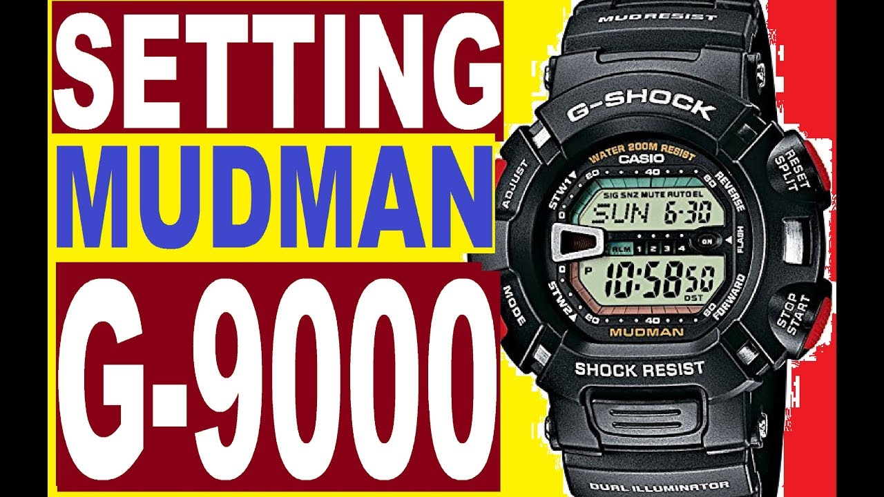 setting g shock g 9000 mudman manual 3031 youtube rh youtube com Casio G-Shock Solar Atomic casio g shock 3031 manuale