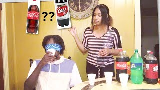 BLIND SODA CHALLENGE TASTE TEST (FUNNY)