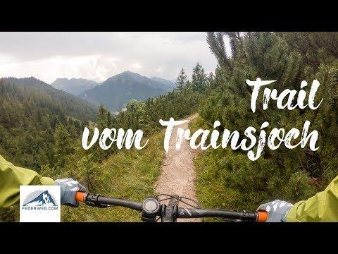Trainsjochtrail mit dem Mountainbike