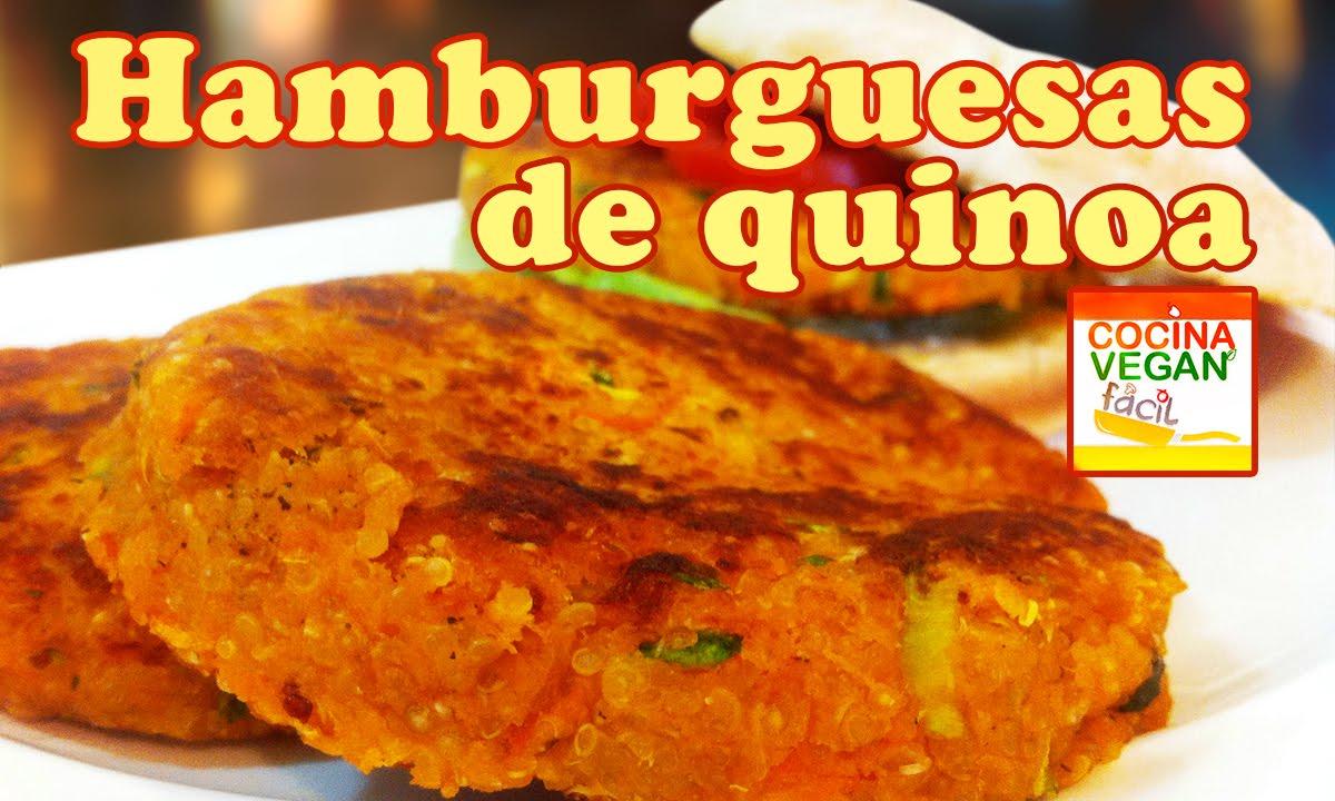 Hamburguesas de quinoa  Cocina Vegan Fcil  YouTube