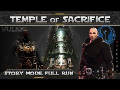 SWTOR OPS ► TEMPLE of SACRIFICE Full Run 8 Man Story Mode (Sentinel PoV)