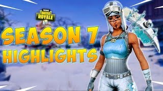 FORTNITE SEASON 7 HIGHLIGHTS & BEST SKINS (Fortnite Battle Royale Gameplay)