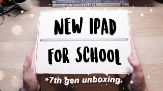 iPad 7th gen unboxing and setup for school 🍎✏️