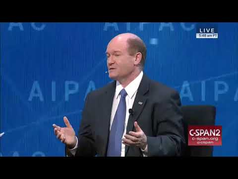 Sen. Coons speaks at the 2018 AIPAC Policy Conference