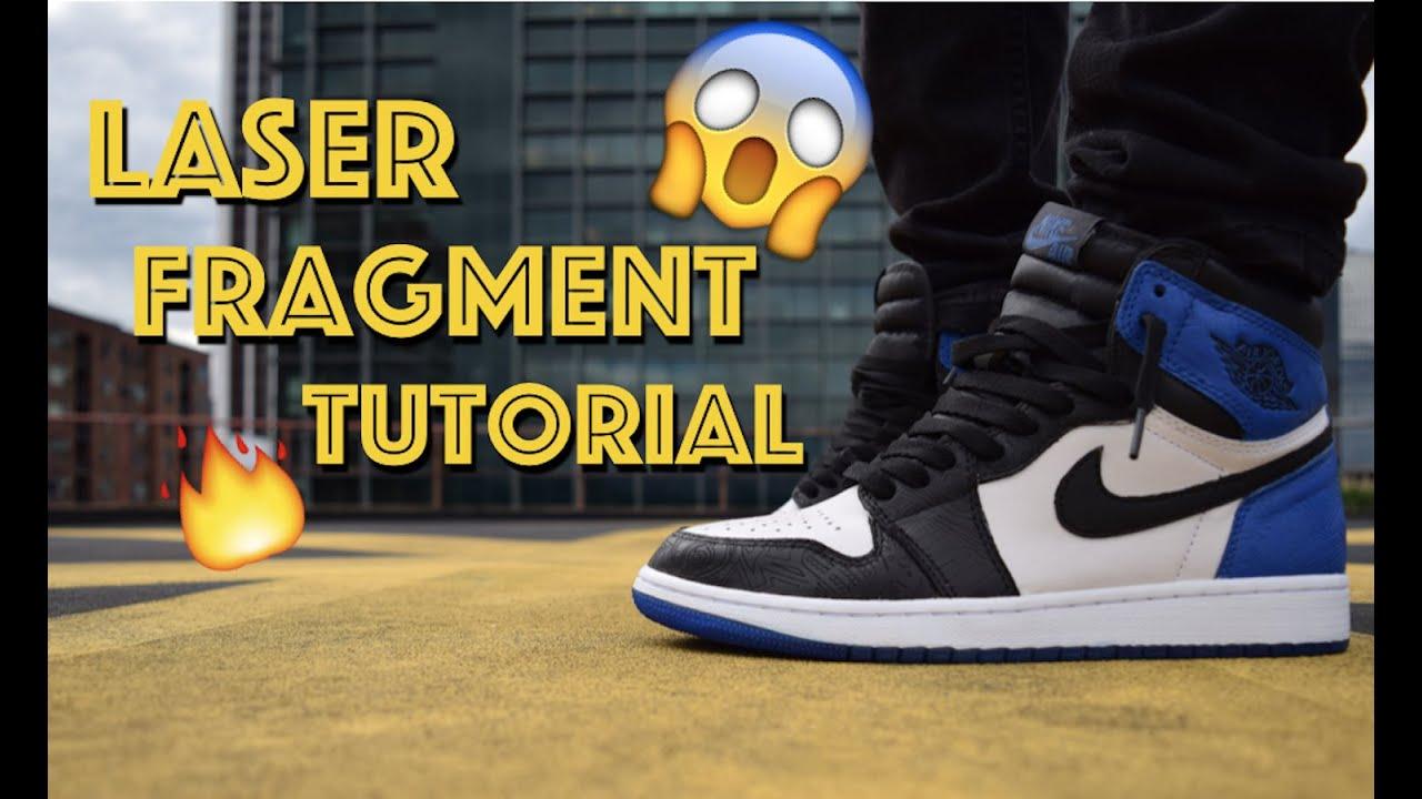 5b8e621e46a Fragment Laser Air Jordan 1 Custom + On Feet (FULL TUTORIAL) - YouTube