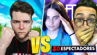 Reto a streamers con 0 espectadores a 1vs1 en Fortnite y pasa esto...