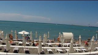 Сочи набережная | Цены на пляже и в кафе | Водоросли на пляже