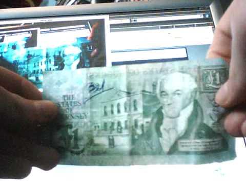 strange money 1 (guernsey pound note)