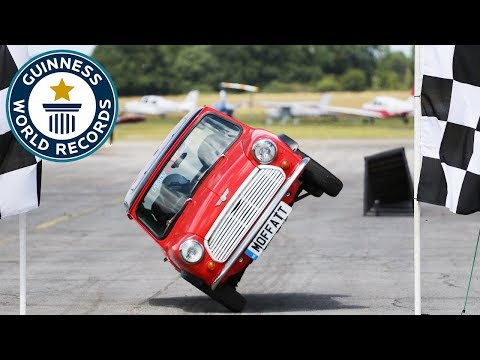 Mini Cooper Side Wheelie - Alastair Moffat - Meet The Record Breakers