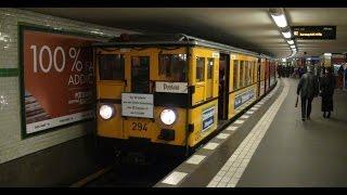 U-Bahn der Baureihe A1 fahren zwischen Pankow und Potsdamer Platz 16.11.2014