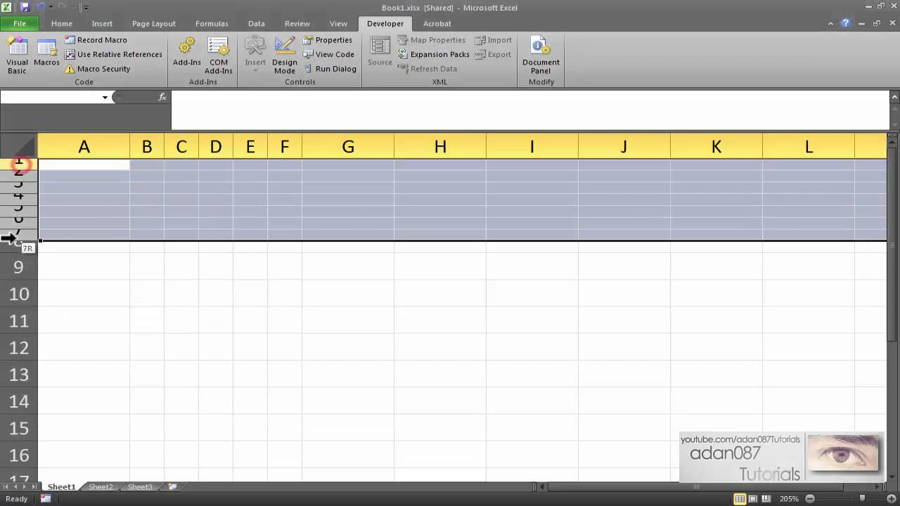 Excel make columns or rows the same size - YouTube