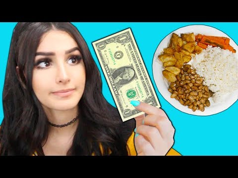 I Only Spend $1 Food for 24 Hours Challenge