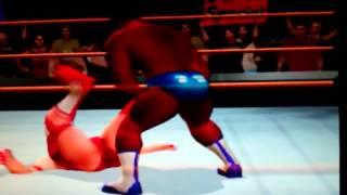 WIWA Vintage Wrestling Match #17:  Red Monster Lady vs Justin Holloway 10/30/2012