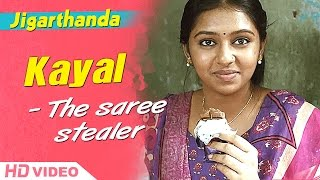 Jigarthanda Tamil Movie - Lakshmi menon - The saree stealer