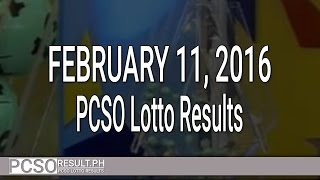 PCSO Lotto Results June 7, 2016 (6/49, 6/42, 6D, Swertres & EZ2) Watch the PCSO lotto results video today, February 3, 2016 (Wednesday). The lotto