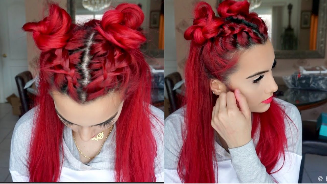 how to put hair in a top knot