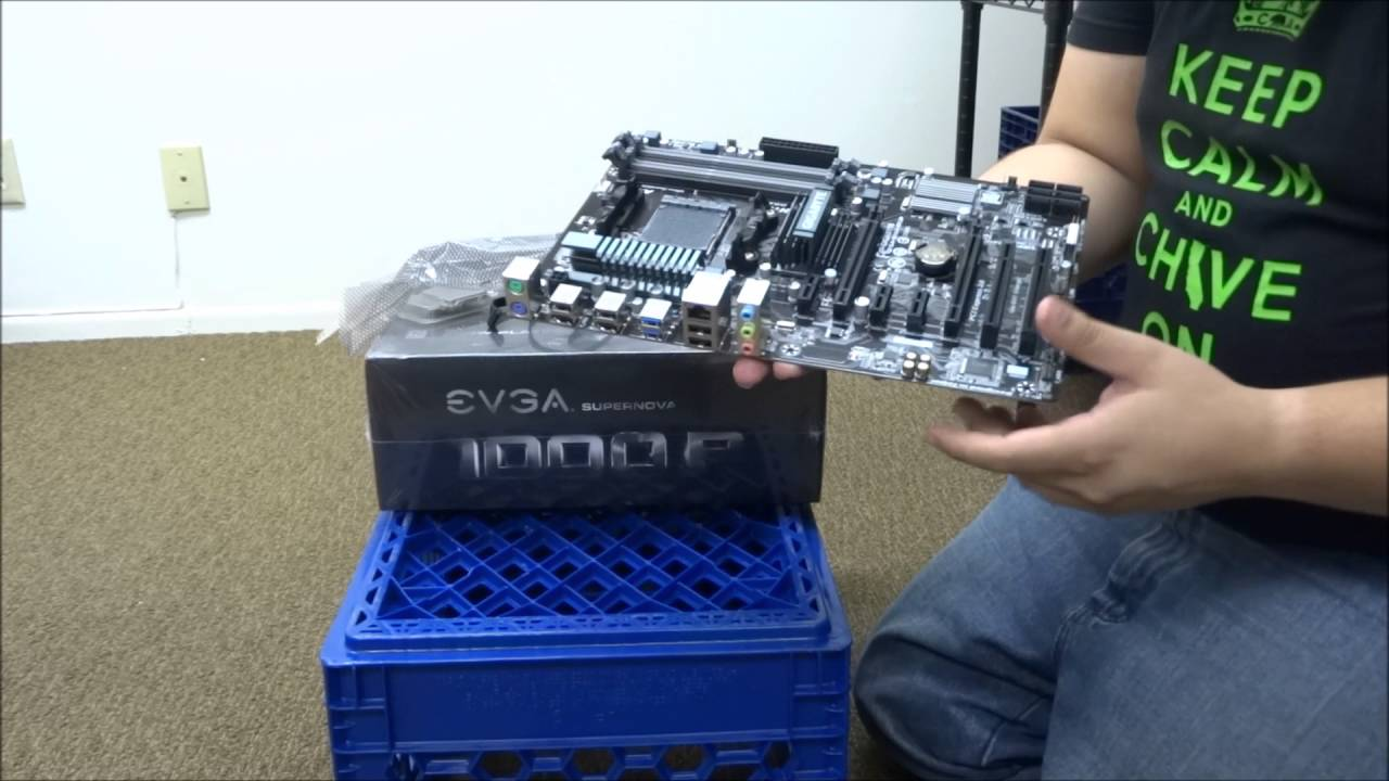 Unboxing and Overview at EthOS Ethereum Miner Rig R9 380x EVGA and GPUSHACK
