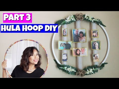 Dollar Tree Hula Hoop DIY Part 3 | Family Photo Display | Mini Family Tree Display