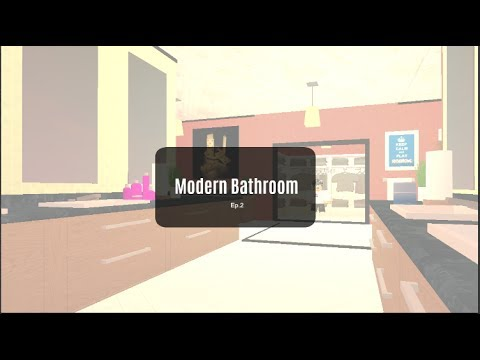 Roblox Bloxburg Room Designs Modern Bathroom Ep2 Youtube - Modern-bathroom-design-2