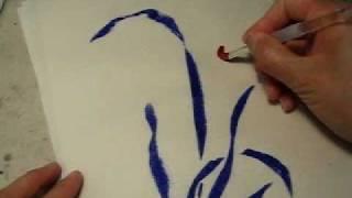 Chinesische Malerei einer Orchideenbume