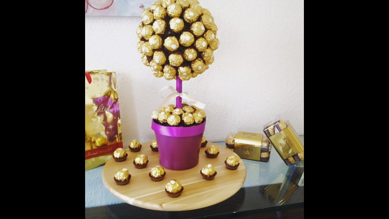 diy ferrero rocher strau ganz einfach und eindrucksvoll zum selber machen youtube. Black Bedroom Furniture Sets. Home Design Ideas
