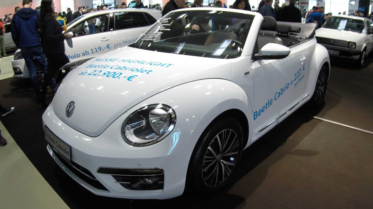 vw beetle cabriolet allstar facelift 2017 pure white colour walkaround and interior. Black Bedroom Furniture Sets. Home Design Ideas