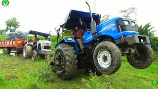 Sonalika 60 Rx washing | Eicher 380 Tractor Stuck in Mud Rescued by Sonalika 60 Rx