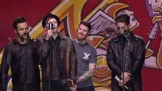 Fall Out Boy win the APMA for Artist Of The Year, presented by Korn