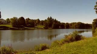 rioz en haute saone petit village tranquille et de vacance vue sur le lac de rioz