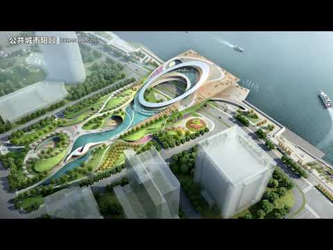 First Prize Competition for the Waterfront design of Wenzhou Outjiang river, China. AURA + ECADI