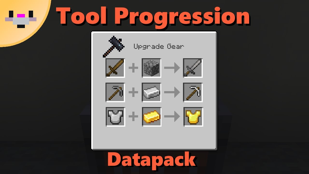 Tool Progression  Upgrade tools using the smithing table