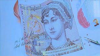 Yeni 10 sterlin banknotlarda Jane Austen'ın resmi kullanıldı