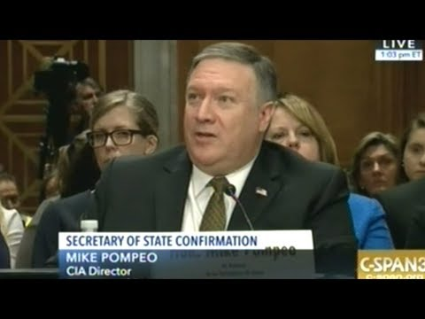 Current CIA Director Mike Pompeo Confirmation Hearing To Become Secretary Of State