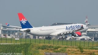 {Full HD}*INAUGURAL* Air Serbia Airbus A330-202 First Takeoff to New York(JFK) from Belgrade!