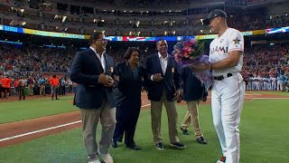 ASG 2017: Latin-born Hall of Famers throw first pitch