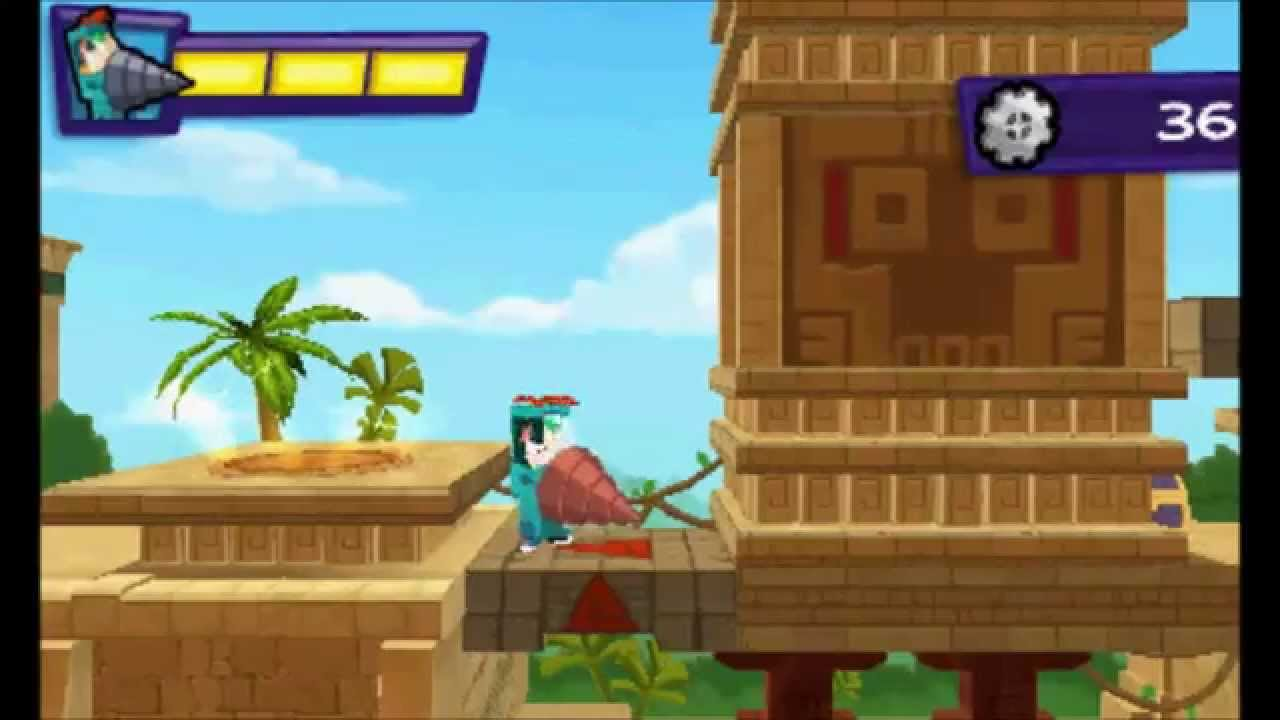 Phineas Ferb Quest For Cool Stuff Nintendo 3ds Gameplay 1 Temple Of Cool Exterior Youtube