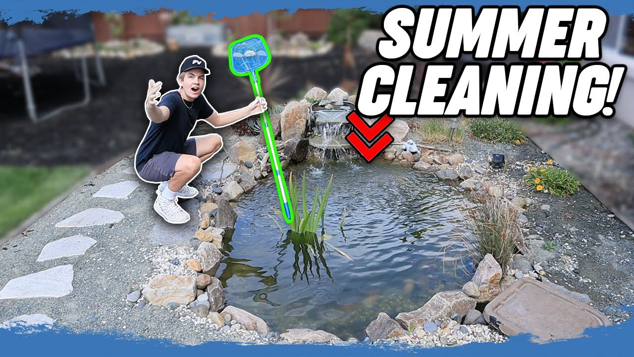 2020 Spring/Summer Backyard Aquascape FISH POND Cleaning ...