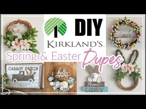 Dollar Tree DIY Spring Easter Decor 2020 / DIY Kirkland Inspired Decor DUPES \ Momma From Scratch