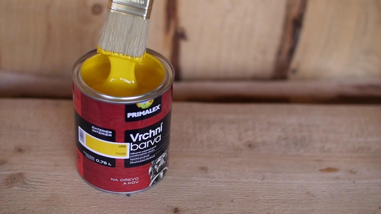 ad4ce6227 Primalex Vrchná farba - Natieranie dreveného nábytku - YouTube