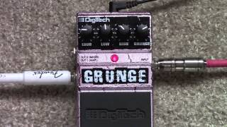 Digitech Grunge Distortion Pedal Demo