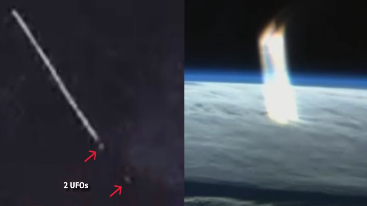 huge beam of light appears above earth captured during iss live stream youtube beams lighting