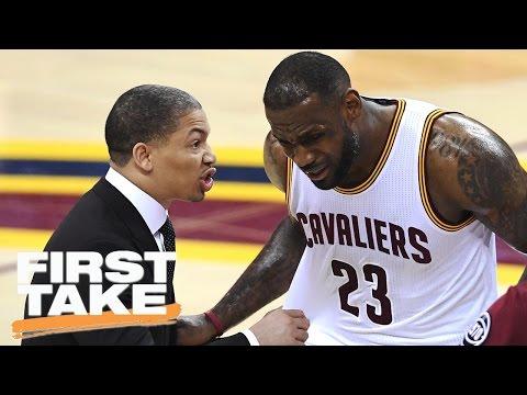 LeBron James', Tyronn Lue's Game 7 Halftime Argument | First Take | April 11, 2017