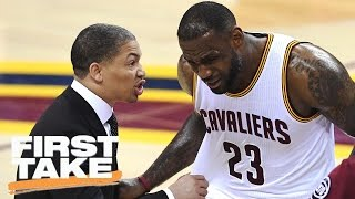 LeBron James', Tyronn Lue's Game 7 Halftime Argument | First Take | April 11, 2017