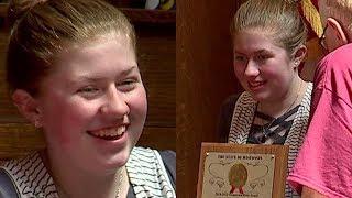 Jayme Closs given Hometown Hero award