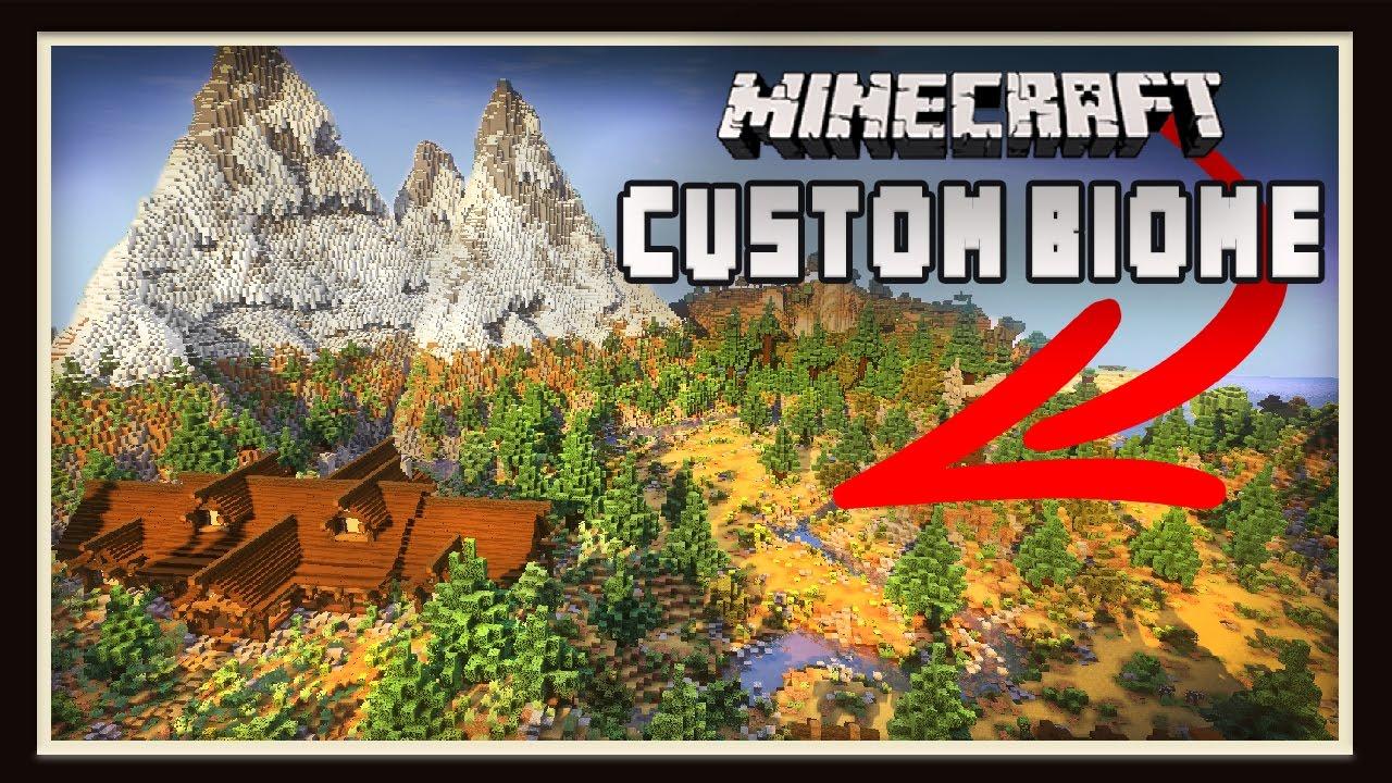 minecraft 100 custom made survival biome tour youtube