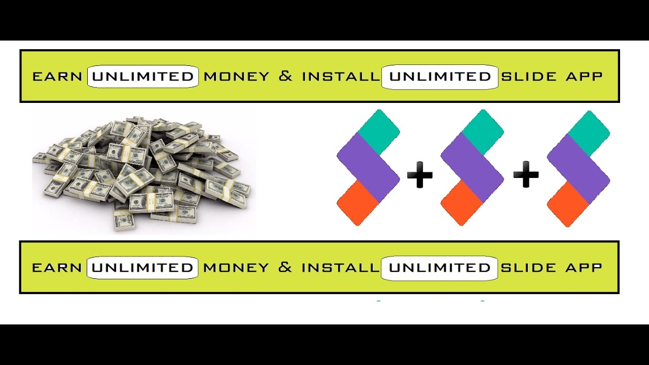 how to earn money by slide app install unlimited slide app youtube