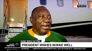 RWC Final | President Ramaphosa in Japan to support Boks