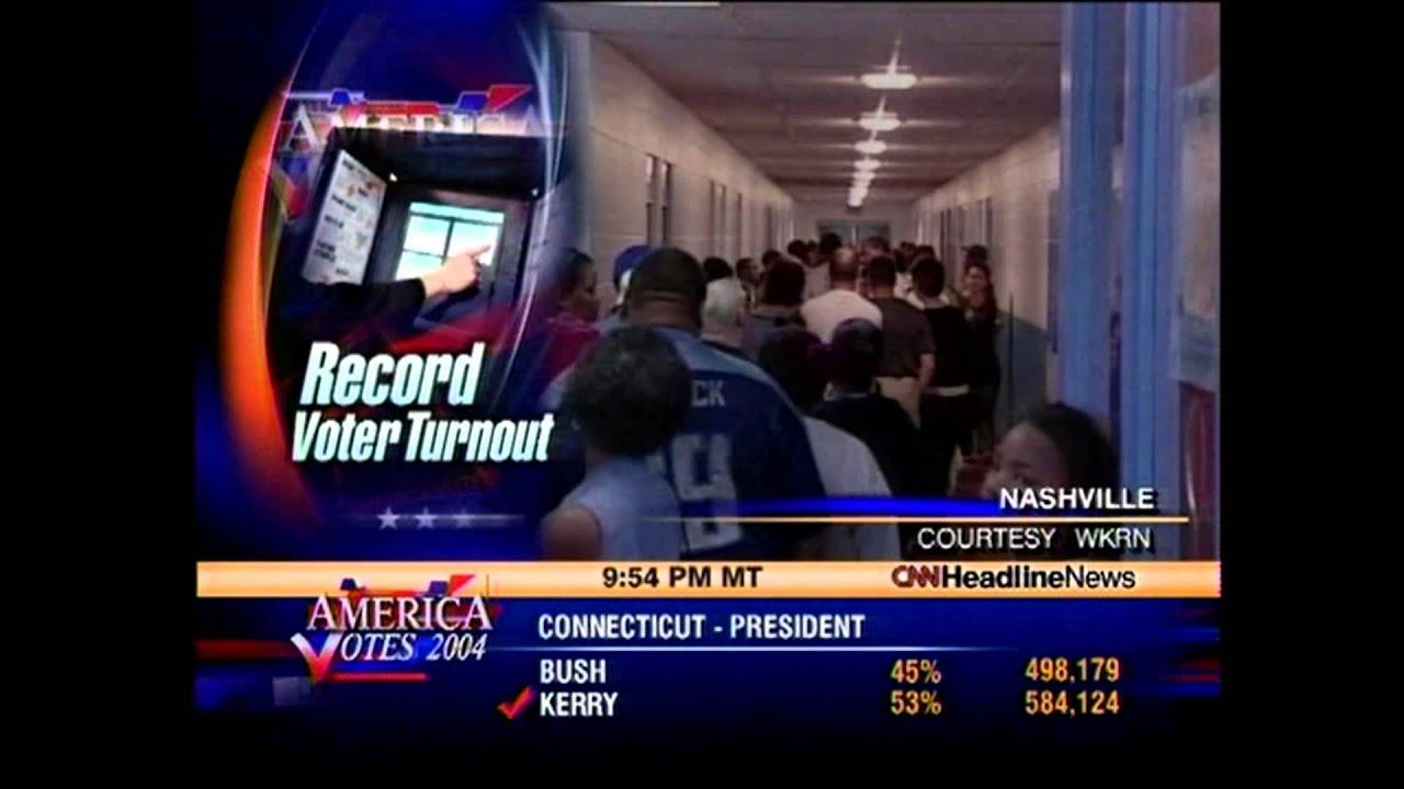 CNN Headline News: Nov. 2, 2004 Election Night unedited ...