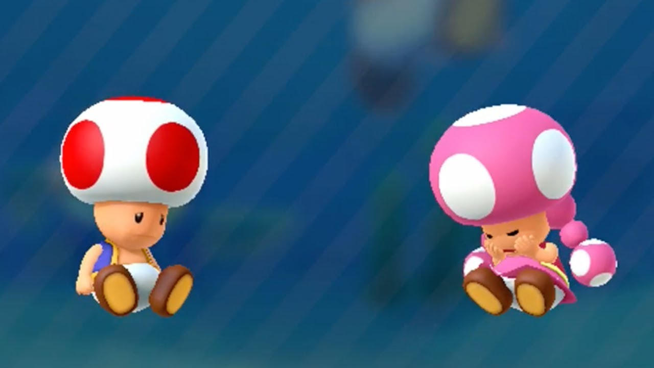 Mario Party 10 - Toad vs Toadette - Haunted Trail - YouTube