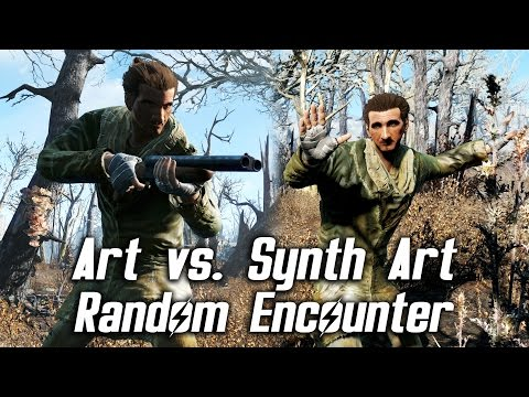 Fallout 4 - Human Art vs. Synth Art (Random Encounter)